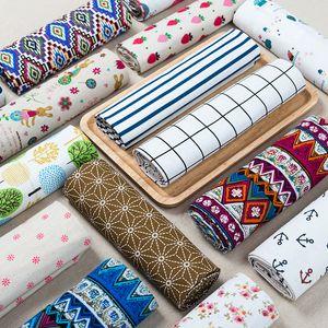 100cm *150cm Cotton linen material tablecloth Hanging cloth Plaid burlap Sofa curtain fabric Fabric wholesale