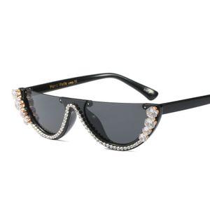 2019 новый уникальный полукадр алмаз дизайнер квадратные очки мужчины женщины мода горный хрусталь оттенки uv400 винтаж gafas