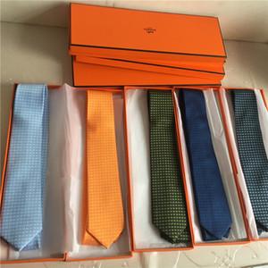 100% de seda gravata de luxo homens 7.0 cm flecha laços de moda fio tingido de seda gravata de negócios do casamento high-end tie