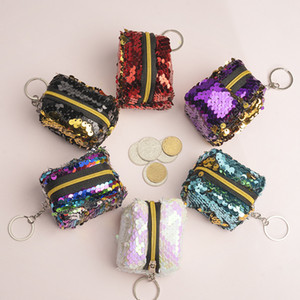 2020 sugao coin purse wallet sequined mini purse for women and children girl small purse wallet 2019 new style wholesale many color choose
