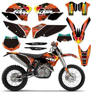 Pour KTM EXC EXCF XCF 2008-2011 SX SXF 2007-2010 Motorcycle Graphics Durites Deco Kit 2008 2009 2010