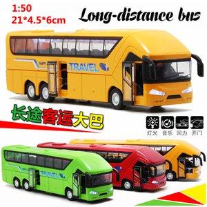Bus Toy Double Layer Bus Model Public Car Alloy Bus Toy Car Children Small Car