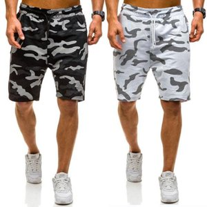 2019 Summer New Fashion Mens Camouflage Shorts Mens Casual Short Pants Black and White Size M-2XL