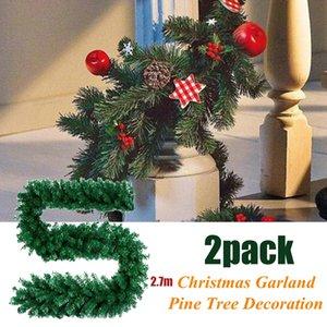 2.7M Decorações de Natal Ornaments Xmas Tree Garland Rattan Party Decor Household Acessórios 2019 New Arrivals Best Selling