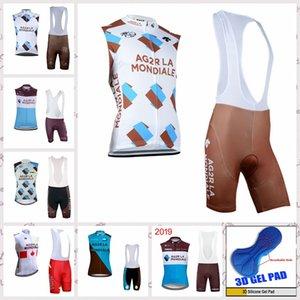 AG2R équipe cyclisme maillot manches short Vest sets hommes Vêtements Respirant Vélo été Ropa Ciclismo T62788 vente chaude