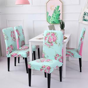 Fundas para sillas Spandex Funda para silla de ordenador Stretch Home Dining Fundas para asientos Funda elástica Banquete WeddingDecorations 39 diseños WZW-YW3275