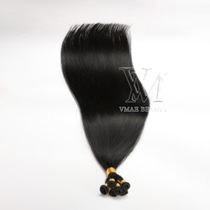 VMAE Full Cuticle One Donor Brazilian Black Hair Wefts Double Drawn 100g Russian Remy Virgin Hand Tied Weft Human Hair Extensions