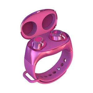 HM50 TWS 2In1 Bluetooth5.0 Wireless Headset Handsfree Earbuds Wristband Bracelet mini earbud sport music in ear style earphone