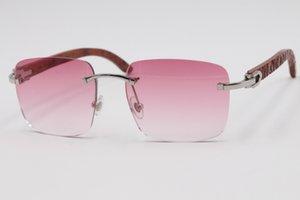 2020 Envoi gratuit haut de gamme 8.300.816 bois cerclées Lunettes de soleil unisexe ornement rose Couleur des verres lunettes de soleil des femmes de C Cadre d'or Décoration