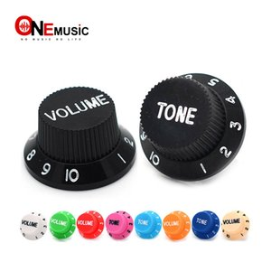 Multi Color E-Gitarre Speed ​​Control Knöpfe Guitar Pot Buttons Cap (1 Volume 2 Tone A Set)