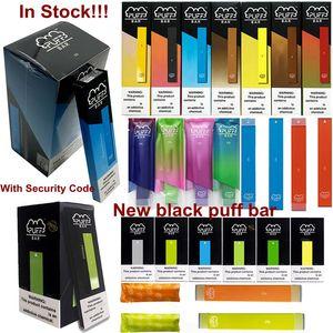 Новые слоеные бары предварительно заполненные одноразовые устройства Бобы Vape Ручки Puff Батончики Пустые Стартовые наборы Картриджи 1,3 мл Тележки 280mAh батареи 18 цветов