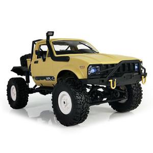 WPL C14 1:16 2.4G 2CH 4WD Mini semi-remorque tout-terrain RC avec châssis en métal Pneus TPR Pneus 15km / h Top SpeedRC Voiture RC tout-terrain électrique