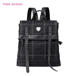 Pink sugao designer backpacks women shoulder bag Studded large-capacity fashion travel retro style casual dual-use backpack school bag
