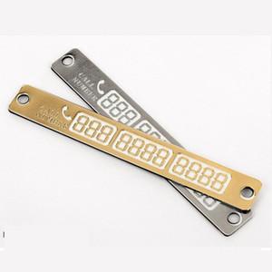 Parcheggio auto parcheggio temporaneo licenza, Mobile Card Phone Number, personalità creativa, autoadesivo luminoso, Automotive Accessori Interni