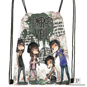 Charm2019 Custom Pierce-the-veil @ 01- Drawstring Mochila Bag Cute Daypack Kids Satchel (preto Back) 31x40cm # 180611-03-104