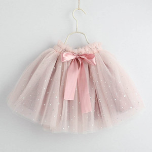 2019 new Fashion Girls Skirts glisten bows Tutu Skirts kids Ballet Tutu Skirt princess girls dresses Summer kids designer clothes A4524