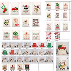 Холст Рождество Sants сумка Большой кулиской конфеты сумки Санта-Клауса мешок Xmas Санта Сакс подарочные пакеты для рождественского украшения Xmas HH9-2372