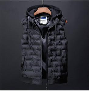 Mens Designer Couleurs solides Gilets Mode Automne Hiver chaud parkas à capuchon Vestes hommes de vêtements épais Casual