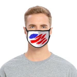 Máscara de oro Usa Día de la Independencia para las máscaras Señora Diseño de tapabocas lavable Poliéster oro Usa hotclipper uKACu