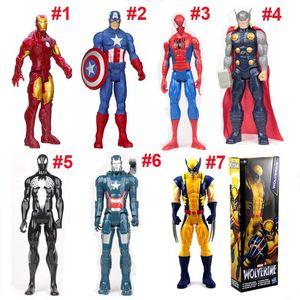 PVC The Avengers Actionfiguren Marvel Heros Iron Man Captain America Ultron Wolverine Figur Spielzeug 30 cm Kinderspielzeug