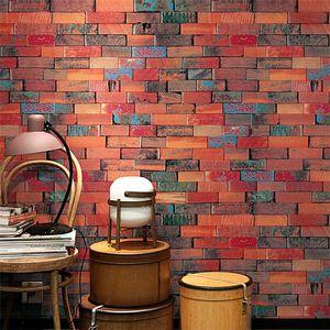 New Living Room Kitchen Bathroom Waterproof Wall Sticker Home Decor Removable Vinyl PVC Brick Stone Wallpaper