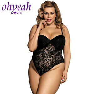Ohyeahlover Sexy Bodysuit Lace Körper Mujer Femme Plus Size Lingerie Bodysuit Frauen RM80285 Push-up Cup Playsuits Und Jumpsuits
