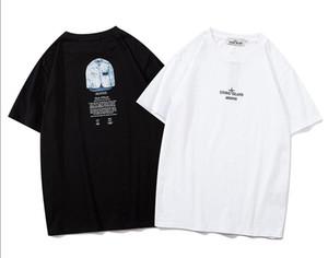 X208 # pedra PIRATA 20SS desenhador braçadeira impressão clássico t-shirt de manga curta preta branca M-XXL