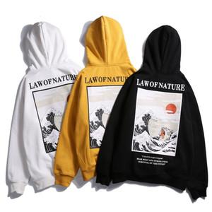 Womens Moda Kapüşonlular Japanese Style Komik Baskılı Polar Kapüşonlular Sonbahar Kış Hip Hop Erkek Kadın Casual Kazak Streetwear