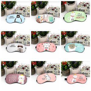 Cotton Inner dos desenhos animados suave Shading Dormir máscara de olho com gelo Bolsas Olhos Dormir Reduzir máscara máscara de pressão Mulheres de protecção dos olhos H1057 T03