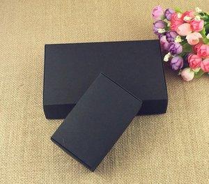 24PCS / Lot الأسود كرتون ورق كرافت تبويب -Lock مربع أبيض هدية عرس مربع التعبئة حلوى زفاف الحزب صندوق الحسنات الصابون صناديق