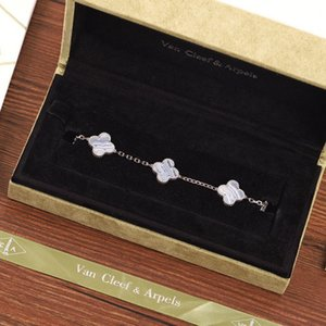 2020 New Fashion Accessories Top quality Ladies Party Dinner charm four-leaf Clover chain bracelet V8XM