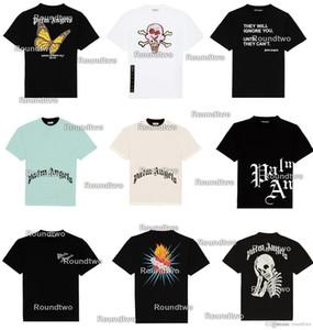 Palm Designer maglietta 2020 della camicia di stampa T Skull uomini donne paio Estate Fashion Casual Via la maglietta