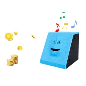 Face Money Eating Coin Bank Battery Powered Saving Box Kids Toys Gifts AIA99
