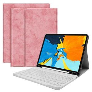 Con ranura pluma teclado inalámbrico Bluetooth para el iPad Mini 5/4 de lujo dril de algodón de cuero protectora para iPad Accesorios de aire pro