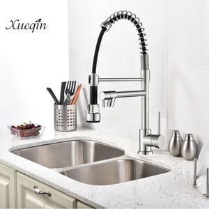 Copper alloy Brass Kitchen Faucet Pull-down Tap Hot And Cold Water Faucet 360 Degree Water Single Handle Sink Mixer Tap G1/2