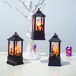 Halloween Decoração tempestade Lanterna Decoração Individual Gift Box Embalagem KTV Bar Warm White Table Lamp DHL