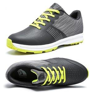 Mode Chaussures de golf masculin poids léger Snekaers pour hommes Sports de plein air Chaussures de golf respirant anti-dérapant imperméable