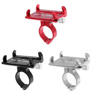 Motocicleta manillar de la bicicleta soporte para teléfono Clip Soporte Soporte de montaje Para 3.5-6.2 pulgadas Móviles