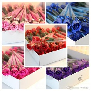 Artificial soap Flowers rose Valentine's Day Wedding flower Party gifts home hotel Favors Decorations wedding bridal bouquets