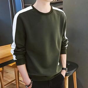 Erkekler Hoodies Uzun Kollu Kazak Kış Katı Renk Yeşil Ordu Kazak Streetwear İnce Kapüşonlular Erkekler M-4XL Büyük Boy