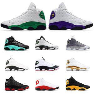 Air Retro Jordan 13 homens sapatas de basquetebol Hot Green Island Celtics TRIBUNAL CHICAGO PURPLE ALTERNATIVAS Atmosfera Grey TRIGO sneakers homens do esporte tamanho 7-13