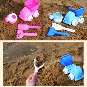 아이 착용 저항하는 튼튼한 양동이 스페이드 삽 레이크 비치 완구 3 세 세트 핑크, 블루