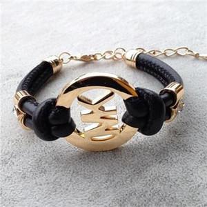 Accesorios de moda para niños hechos a mano retro pulsera de cuero de PU para hombre pulsera de moda para hombres y mujeres joyería 8PCS /