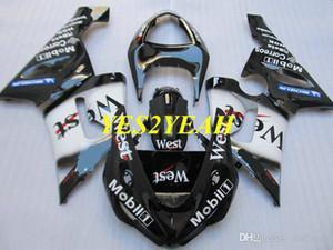 Spritzgießwerkzeug Fairing Kit für Kawasaki Ninja ZX6R 05 06 ZX 6R 636 2005 2006 WEST Weiße schwarze Verkleidung Karosserie KK04