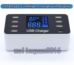 Multi-porte USB / Type-C / caricatore intelligente QC3.0 con display. identificazione di .Automatic secondo corrente alle apparecchiature.