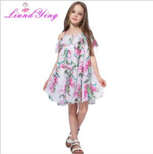 Bester Verkauf Sommer neue Linie ein Ansatz einteiliger Rock Kinder-böhmisches Kleid Urlaub Straps Rock Größe 90-140cm
