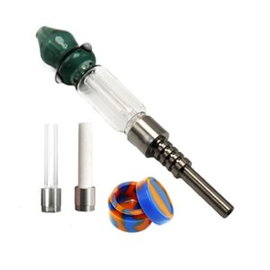 510 Honey Straw Heady Glass Pipe Concentrate Honey Dab Rig Wax Smoking Water Pipes With 510 Titanium Nail Ceramic Tip