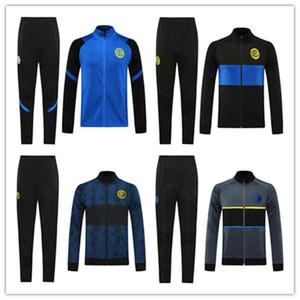 TOP 2021 INTER 축구 재킷 운동복 키트 ERIKSEN nainggolan 라우 타로 BARELLA 루카 쿠 NAINGGOLAN 20/21 간 후드 재킷 트레이닝 세트