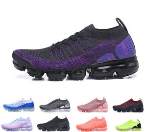 2021 Newest Knit 2.0 Fly Running Shoes Men Women BHM Red Orbit Metallic Blue Triple Black outdoor chaussures Sneakers Trainers 36-45