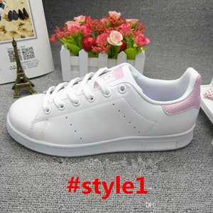 2019 sale TOP quality new stan shoes fashion brand smith sneakers casual leather men women sport jogging sneakers classic flats Casual shoes
